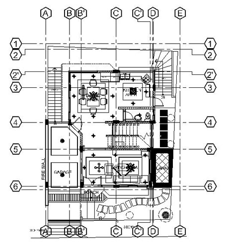 PHILIPPINE AUTOCAD OPERATOR - REFLECTED CEILING GROUND FLOOR LAYOUT PLAN